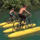 自転車で水の上を走る!水上移動ボート・シャトルバイクキットはどこで買える?いくら?『土曜スペシャル』